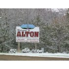 Alton: Alton, Ia River and Elevator First Snow October 12, 2009
