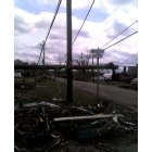 Mena: April 10th, 2009. One of the main streets destroyed by the april 9th tornado.