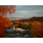 Bristol: A church in the beautiful mountains during fall