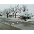 Inyokern: Snow in El Solana Trailer Park 1-25-2010