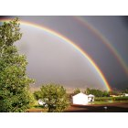 Monroe: Double Rainbow on South end of Monroe City - 9 Sep 2008