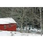 Searsport: red barn down by the river