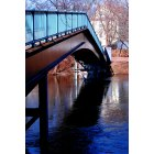 Watertown: The footbridge crossing the Charles near the Falls in Watertown Square