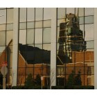 Bartlesville: First United Methodist Church and Price Tower reflection - Bartlesville, OK