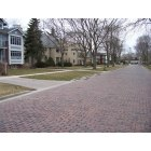 Wilmette: The bricks of Michigan Avenue, with Gillson Park to the right (not visible).