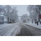Wellsville: Main Street on a quiet winter day,