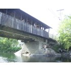 Waitsfield: Lauren Cunningham jumping off the covered bridge