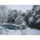 Coushatta: Surprise snowfall Feb 2010. My backyard