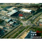Commerce: this is commerce,Texas from helicopter view