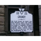 Grundy: Historical Marker outside of the Grundy Courthouse