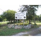Crawford: Welcome sign on North FM 185