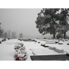 Quitman: Grave yard across from the school on snow day..