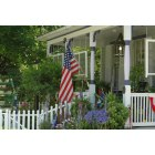 Leesburg: Flag on a front porch in Leesburg VA