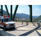 Montgomery: Ambulance screaming across the Montgomery Bridge