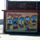 Pecos: Mural in Courtyard of West of the Pecos Museum