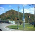 Morehead: on 32 coming up to US60 intersection in Morehead, Ky Beautiful view of color change on the hills