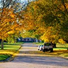 Moville: Autumn colors on Jackson Street, Moville, Iowa.