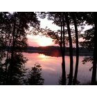 Hampden: sunrise on hermon pond in Hampden Maine july 2011