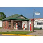 Loup City: Old Gas station on Main Street