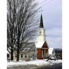Greenville: Church in downtown Greenville, NH