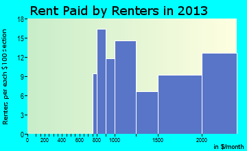 South Floral Park rent paid by renters for apartments graph