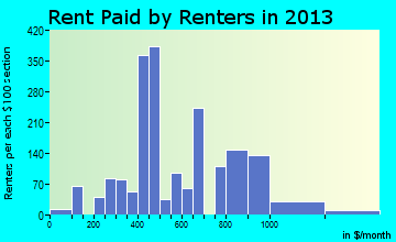 Burkburnett rent paid by renters for apartments graph