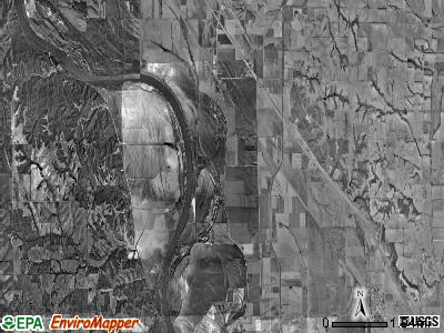 Lincoln township, Missouri satellite photo by USGS