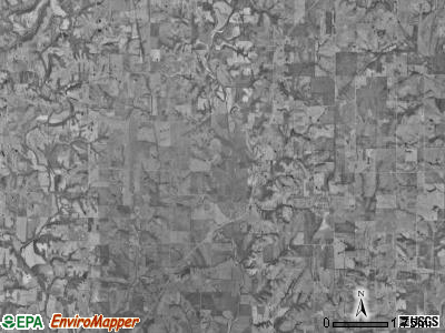 Rochester township, Missouri satellite photo by USGS