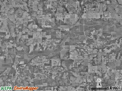New York township, Missouri satellite photo by USGS