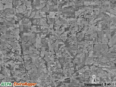 Carrollton township, Missouri satellite photo by USGS