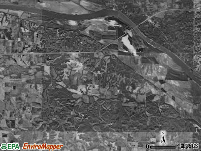 Saline township, Missouri satellite photo by USGS
