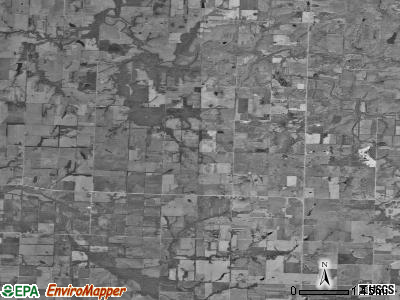 Newport township, Missouri satellite photo by USGS