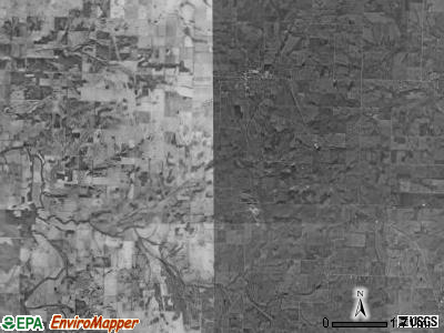 Twelvemile township, Missouri satellite photo by USGS
