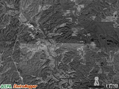 Black River township, Missouri satellite photo by USGS