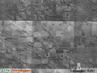Columbia township, Nebraska satellite photo by USGS