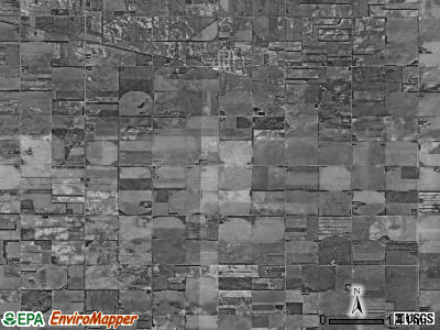 Garfield township, Nebraska satellite photo by USGS