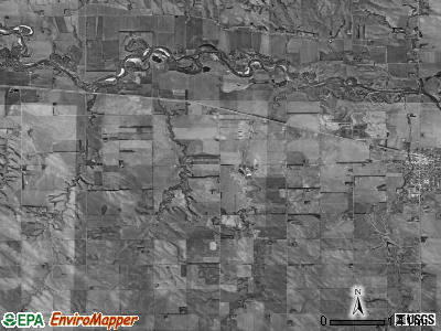 Burnett township, Nebraska satellite photo by USGS