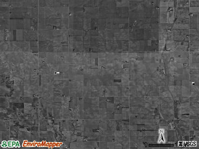 Burrows township, Nebraska satellite photo by USGS