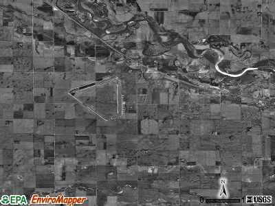 Everett township, Nebraska satellite photo by USGS