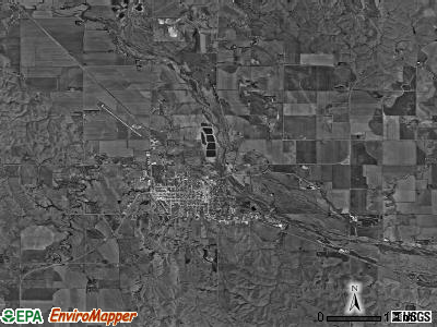 Ord township, Nebraska satellite photo by USGS