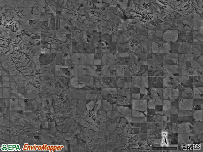 Geranium township, Nebraska satellite photo by USGS