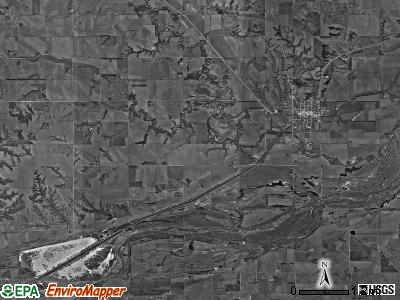 Genoa township, Nebraska satellite photo by USGS