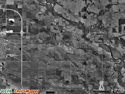 Elkhorn township, Nebraska satellite photo by USGS