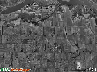 North Cedar township, Nebraska satellite photo by USGS