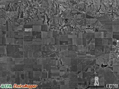 Olive township, Nebraska satellite photo by USGS