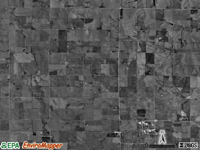 Marietta township, Nebraska satellite photo by USGS