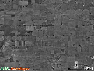 Kenesaw township, Nebraska satellite photo by USGS