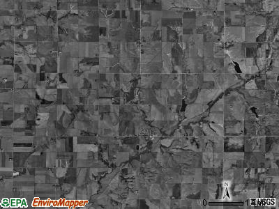 Clatonia township, Nebraska satellite photo by USGS