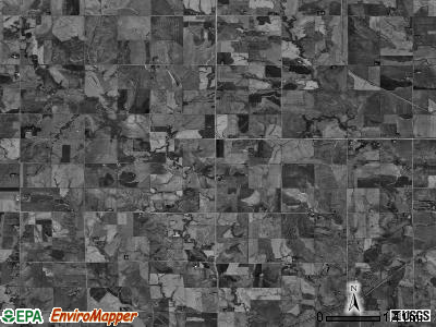 Sicily township, Nebraska satellite photo by USGS
