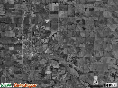 Blue Springs-Wymore township, Nebraska satellite photo by USGS
